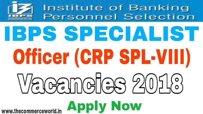 IBPS Specialist officer Recruitment 2018