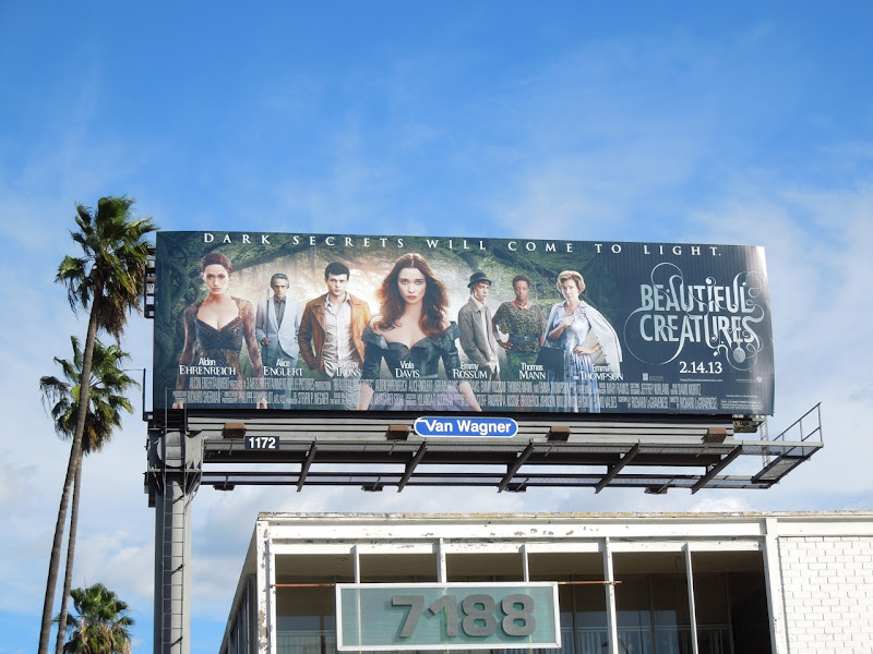 Beautiful Creatures movie billboard