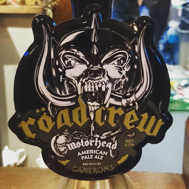 County Durham Craft Beer Review: Roadcrew from Camerons real ale pump clip