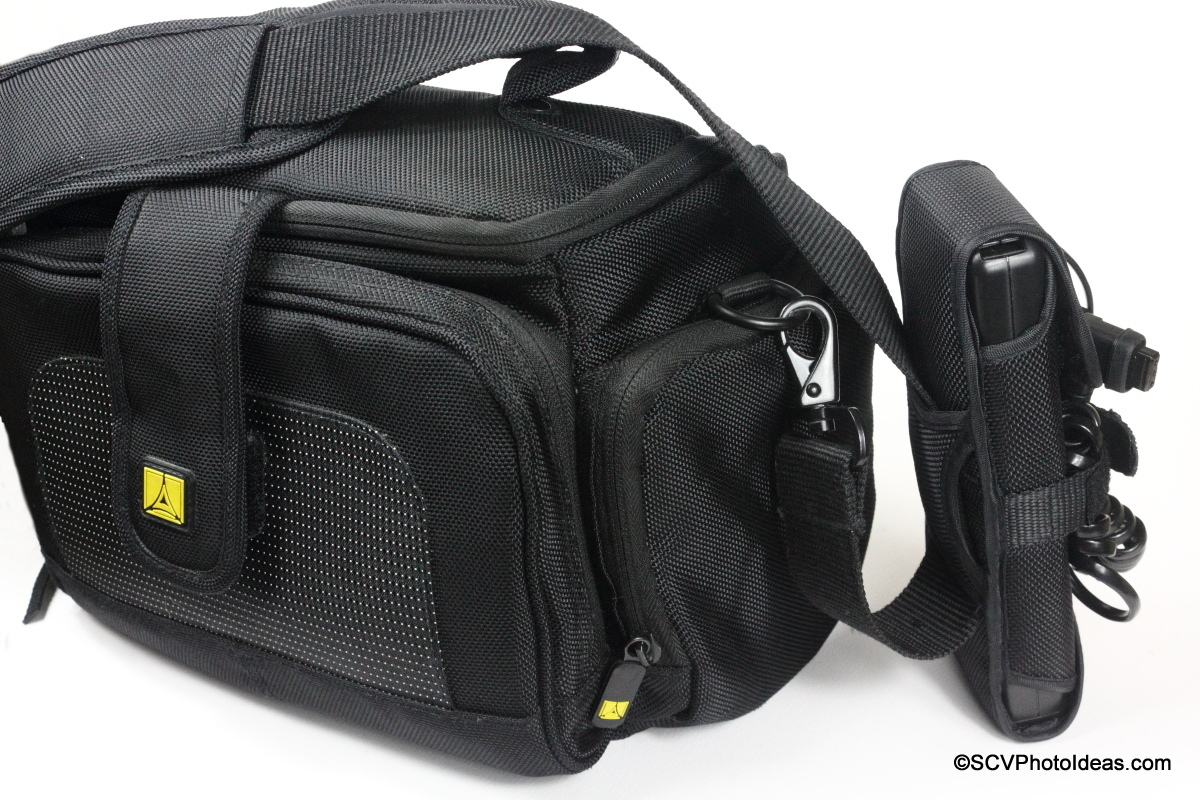 YongNuo SF-18 External Battery on Camera bag