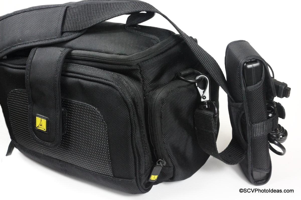 YongNuo SF-18 External Battery on Camera bag