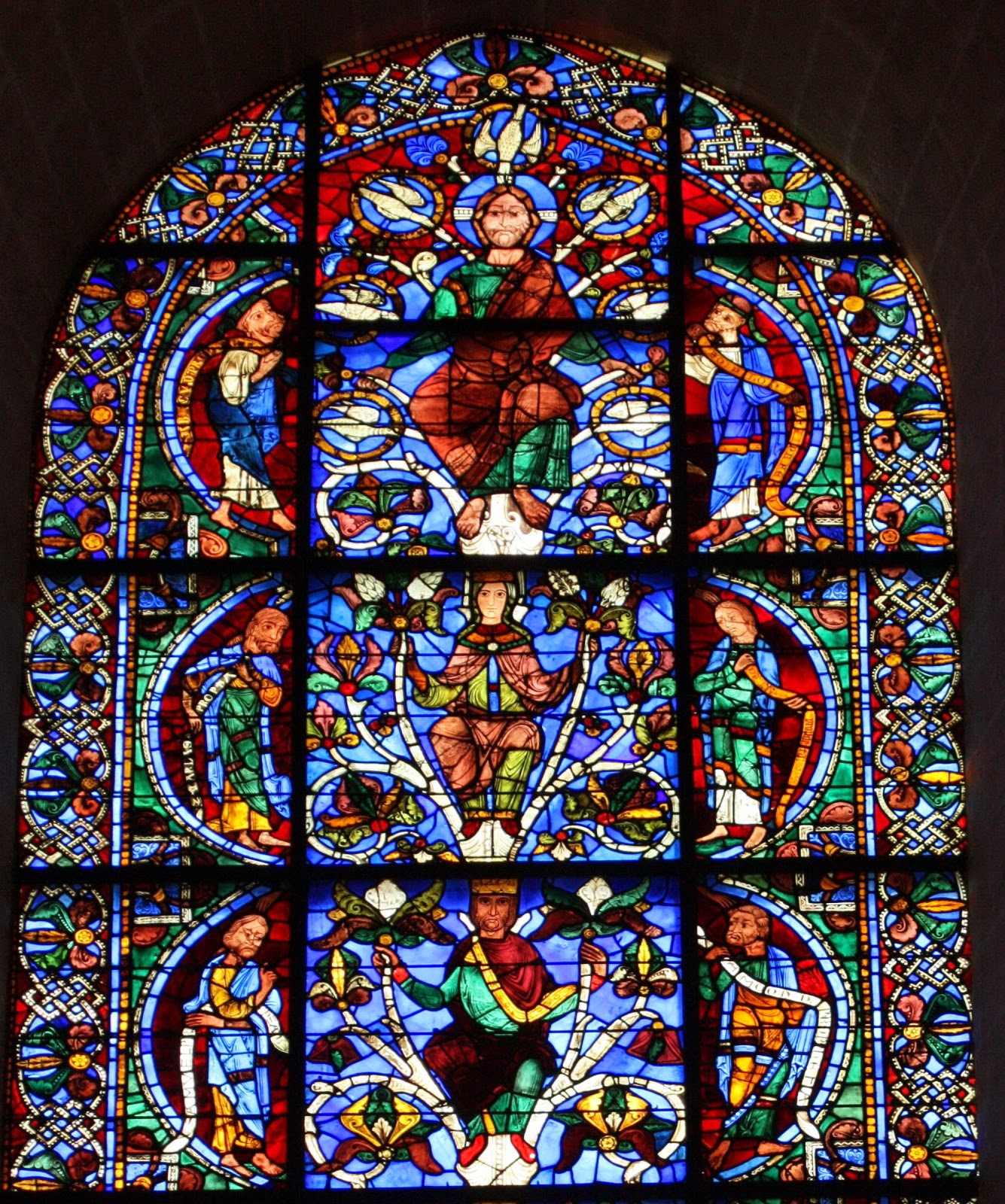 the stained glass chartres