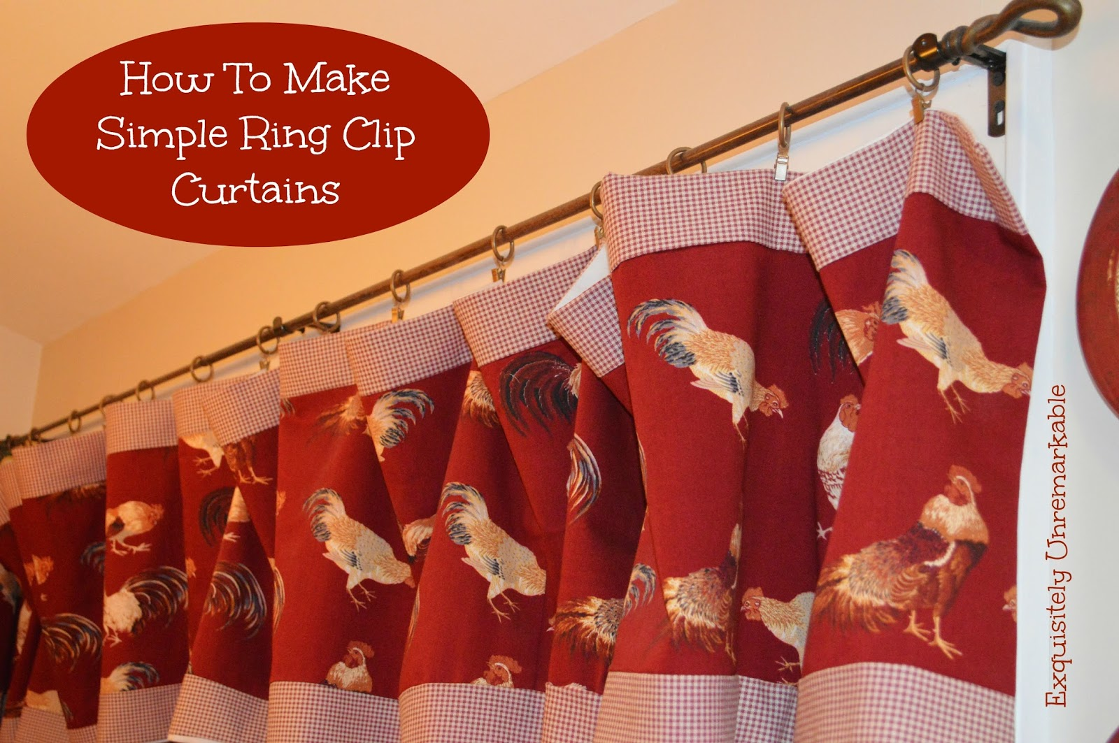 How To Make A Ring Clip Valance