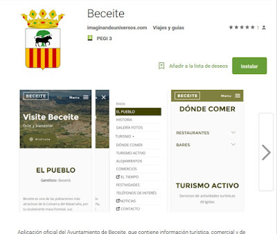 App, Beceite, Beseit, catalán, català, beseità, imaginando universos