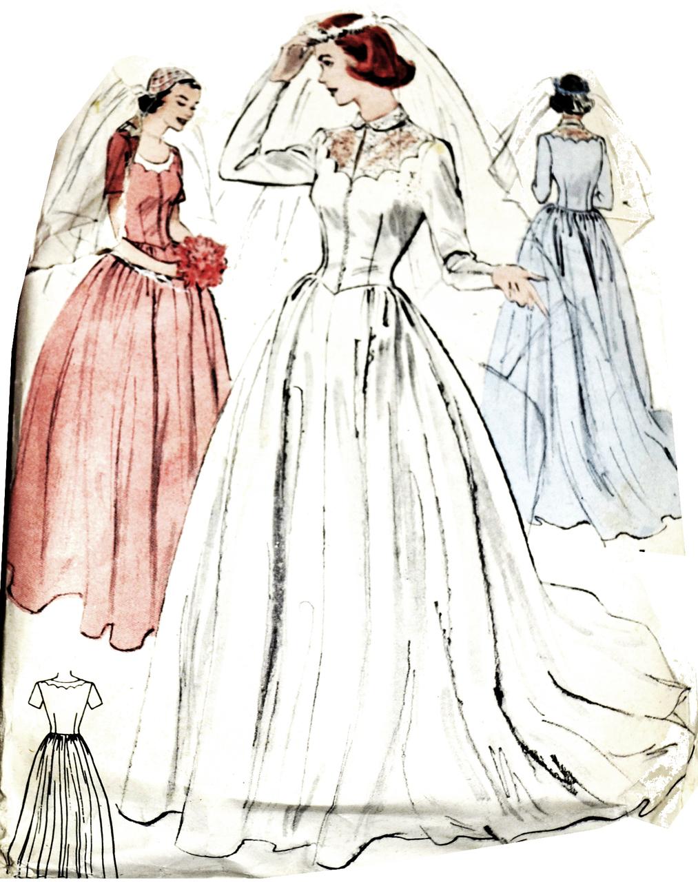 Vogue Wedding Dress Patterns Vintage   wedding dresses cold climates