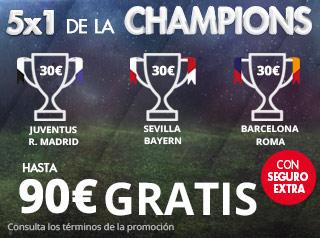 suertia promo ida cuartos champions españoles 3-4 abril