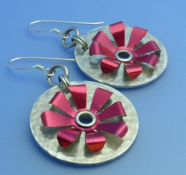 How To Make Riveted Recycled Soda Can Earrings The