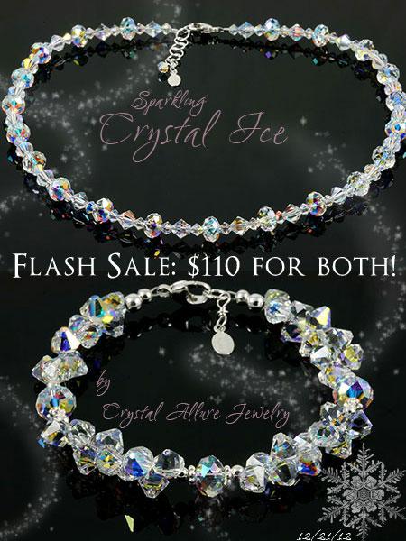Swarovski AB Crystal Ice Jewelry Necklace and Bracelet (N103, B191)