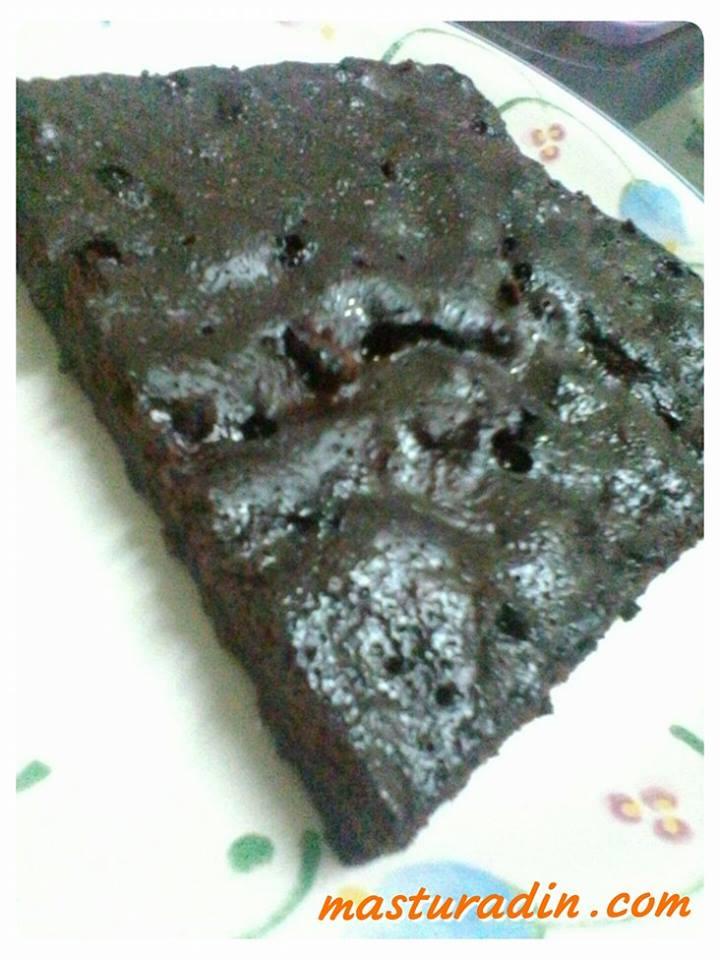 resepi brownies tanpa telur kukus, eggless brownies, cara-cara, bahan-bahan, mudah