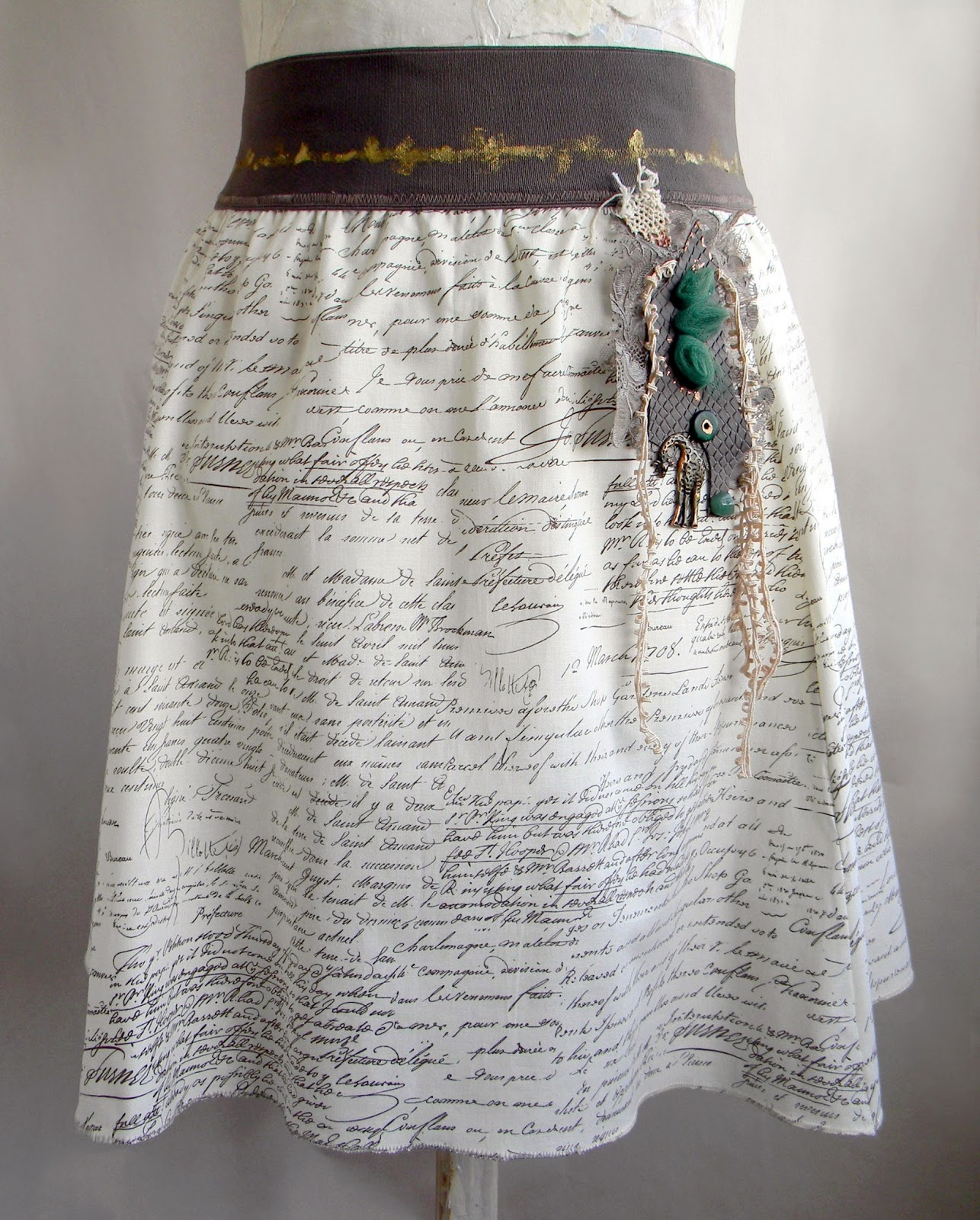 Unique Handcrafted Skirt Fashion Skirt Original Clothing