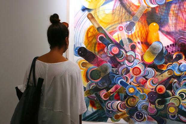 Von Lintel La Rosemarie Fiore Smoke Paintings