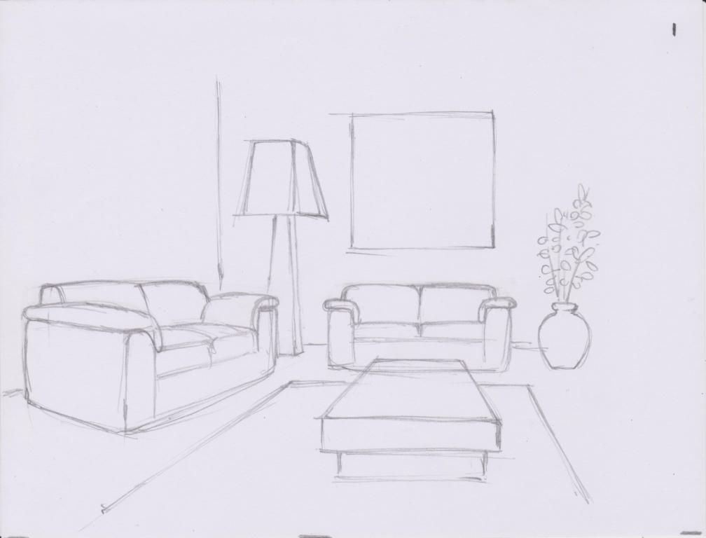 Next, make details of the couches based on the box shapes.