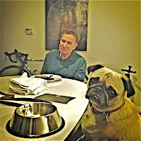 Robin Williams and his pug