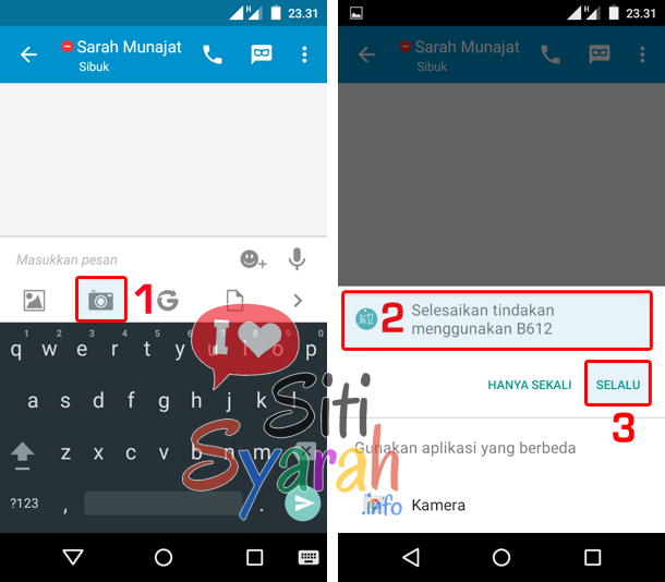 mengganti aplikasi kamera default android