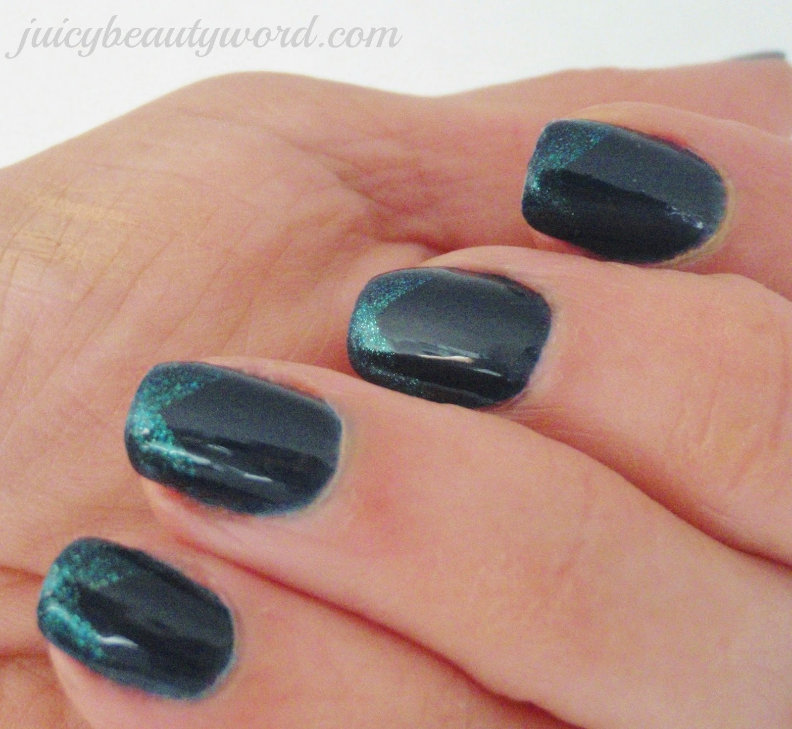 The Juicy Beauty Word: Zoya Entice and Ignite Chevron French Nail Design