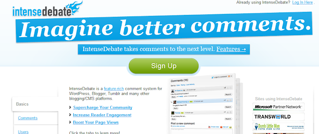 Intense Debate Home Page