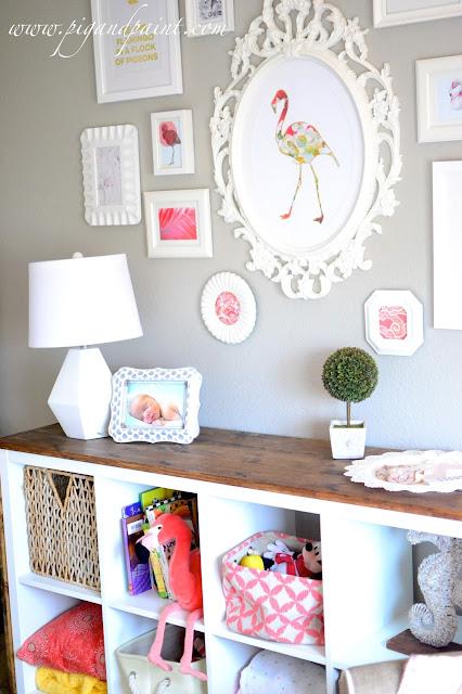 Flamingo 2 Bedroom Suite: Pink Flamingo Themed Baby Nursery