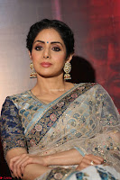 Sri Devi in designer saree stunning beauty at the launch of MOM movie Trailer~  Exclusive 071.JPG
