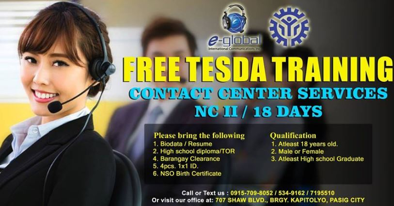 Contact Center Services NC II (FREE TRAINING PROGRAM 2019)