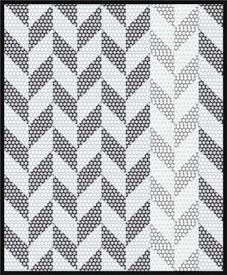 Free pattern day!  Black and White quilts