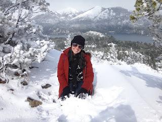 Muita neve no topo do Cerro Campanario em Bariloche