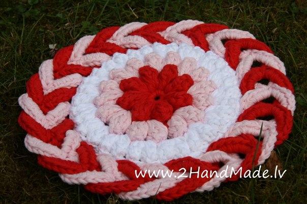 Patrones crochet - Cojin redondo silla ...