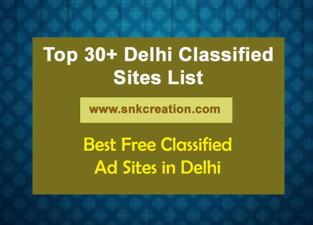 free classified sites in delhi
