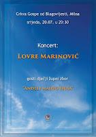 Lovre Marinović, koncert, Milna slike otok Brač Online