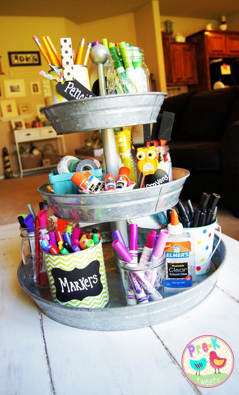 Classroom Store Ideas : Pre k tweets organization tin can diy