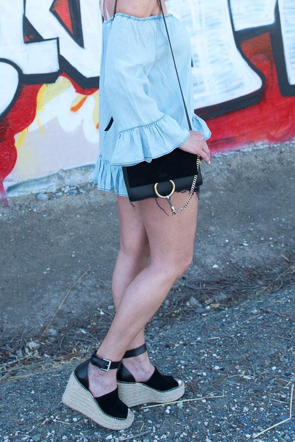 black chloe faye handbag