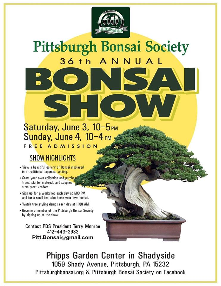 Pennsylvasia 36th Annual Pittsburgh Bonsai Show June 3 And 4