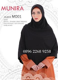 Harga jilbab/hijab munira koleksi terbaru MD 01 dewasa