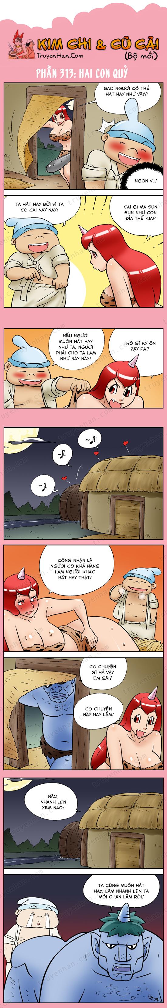 Kim Chi & Củ Cải (bộ mới) phần 313: Hai con quỷ
