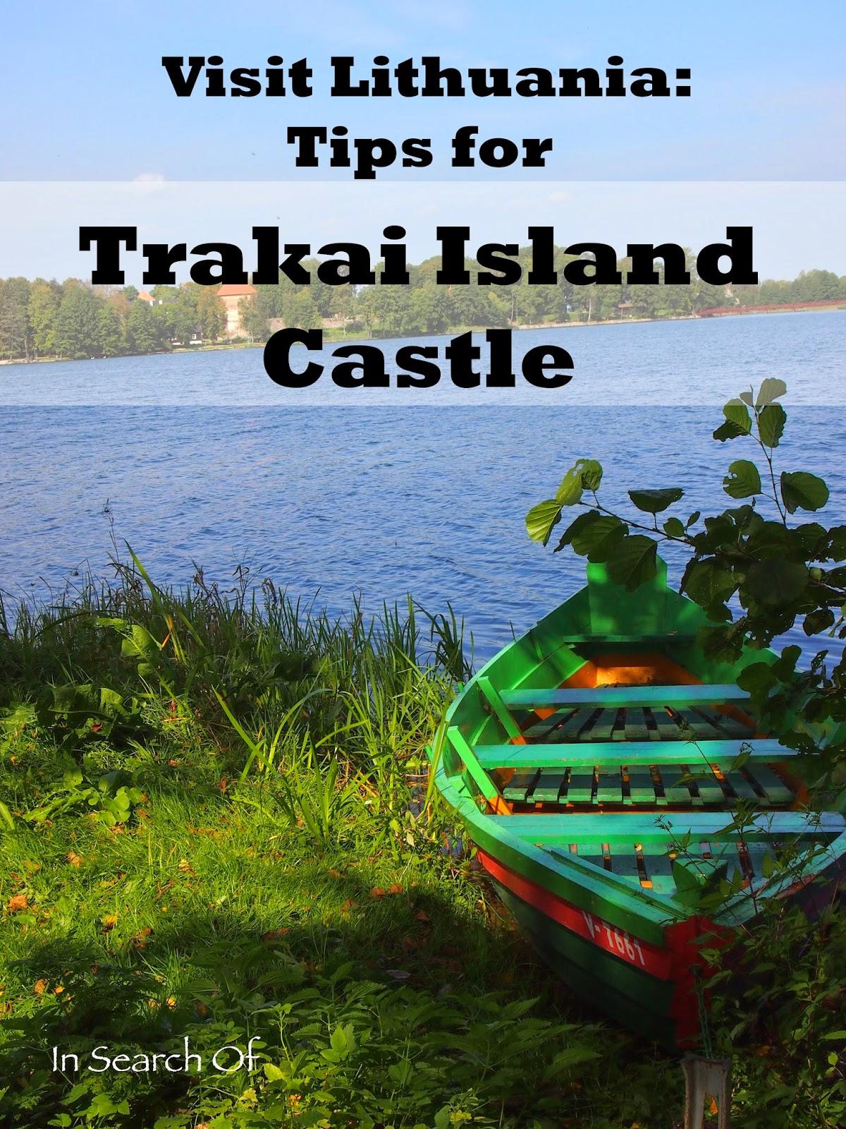 A colorful boat in Trakai Island Castle