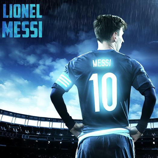Neon Messi Wallpaper Engine