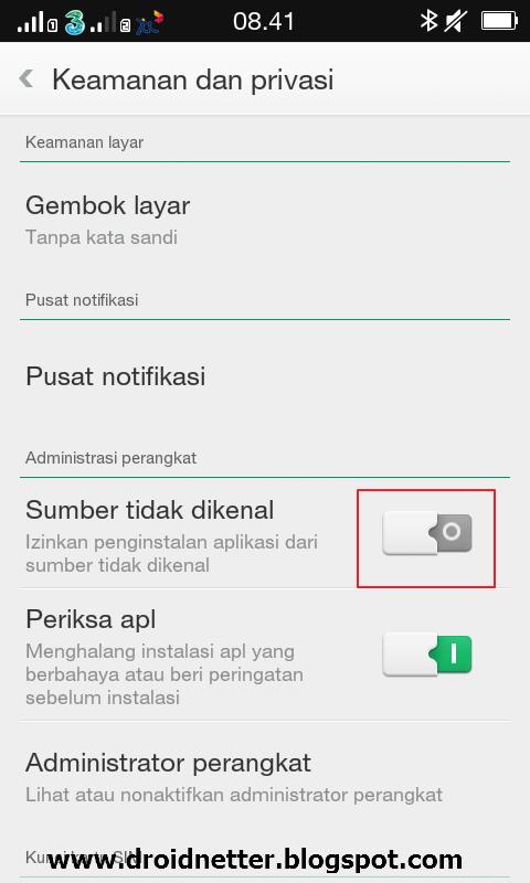 Mengatasi Tidak Bisa Pasang Aplikasi Pemasangan Di Cekal Di Android