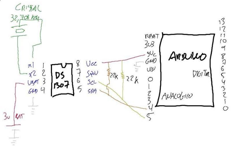 Yopero-Tech: Real Time clock para Arduino(DS1307)