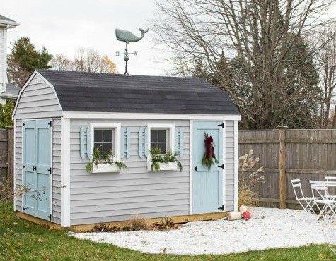 Christmas Garden Shed