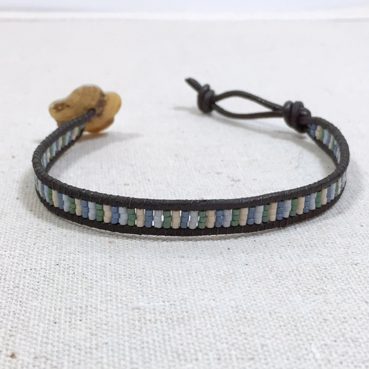 Make Chan Luu Style Leather Bead Bracelets
