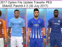 Option File PES 2017 Terbaru untuk SMoKE Patch 9.4.3 update 30/7/2017