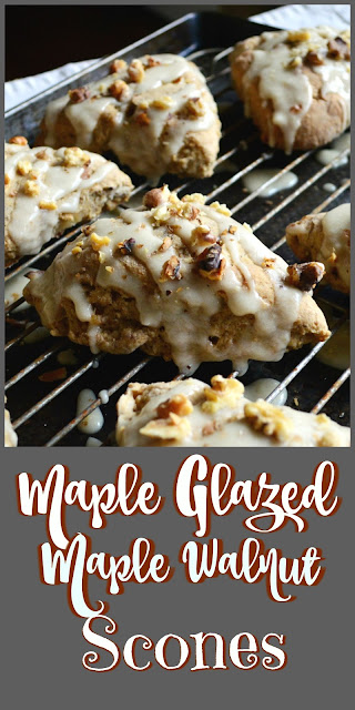 Maple Glazed Maple Walnut Scones  Moist and full of flavor, these scones are better than any I've tasted. If you like maple and you like scones, these are the maple scone for you! www.thisishowicook.com #scones #maplerecipes