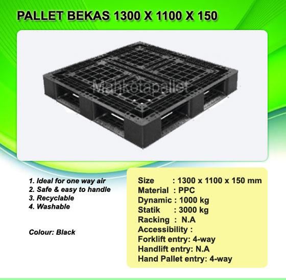 Pallet Plastik Bekas 1300 x 1000 x 150 mm