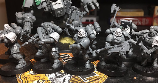 Alpha Legion Khorne Berzerker Conversions from Primaris Reivers and FW bits