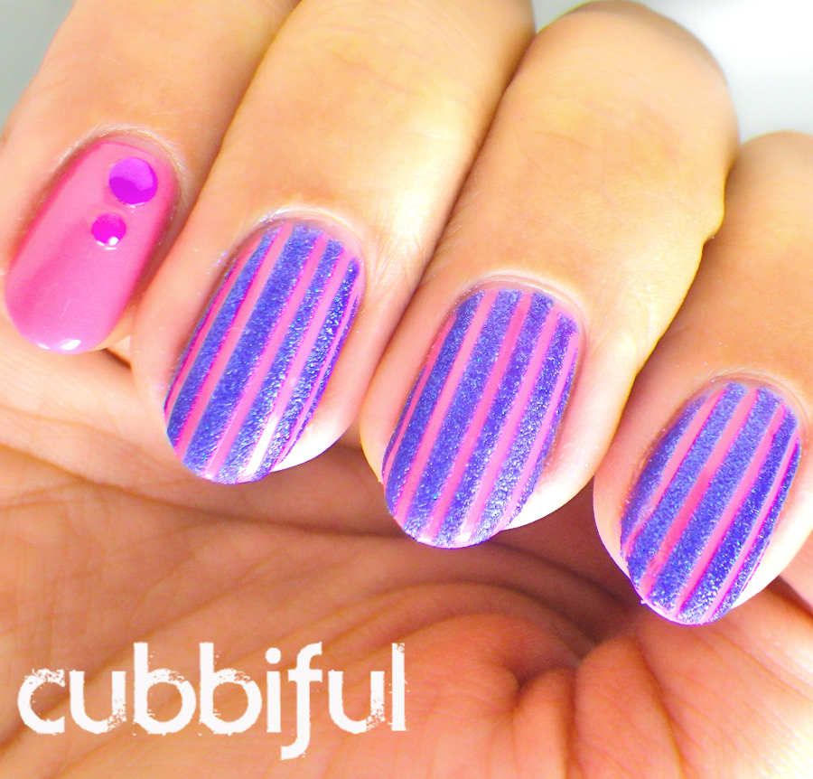 Stripes and studs on nails