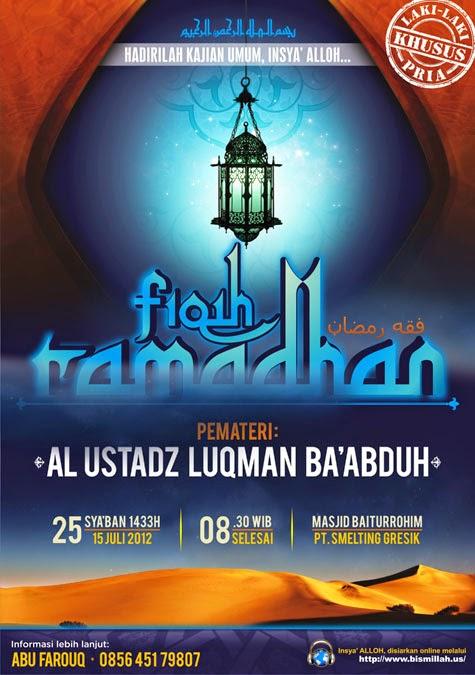 [AUDIO] Fiqih Ramadhan - Ustadz Luqman Ba'abduh