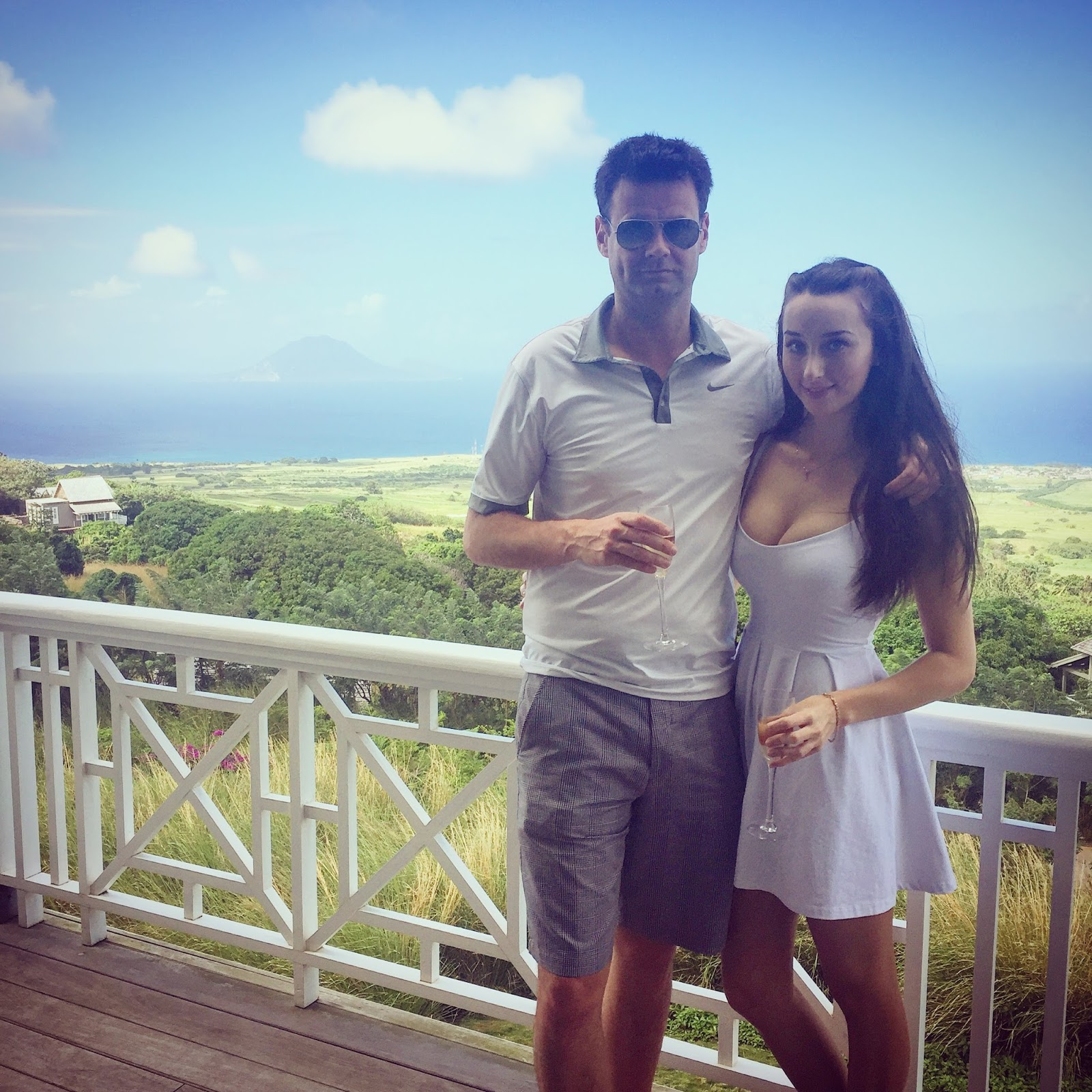 Couple Picture Caribbean, Boyfriend, Girlfriend, Champagne, Beach, St Kitts, Kittitian Hill