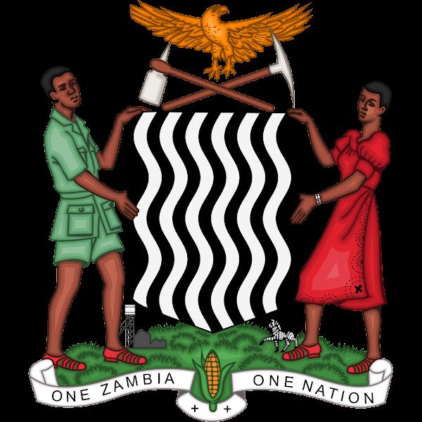 Logo Gambar Lambang Simbol Negara Zambia PNG JPG ukuran 600 px