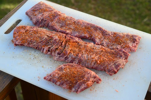 seasoned skirt steak