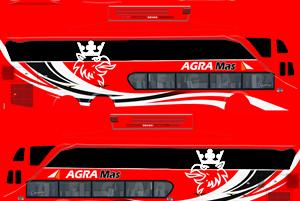 Kumpulan Livery Bus Simulator Indonesia SDD (Double Decker) Terbaru Kualitas Jernih
