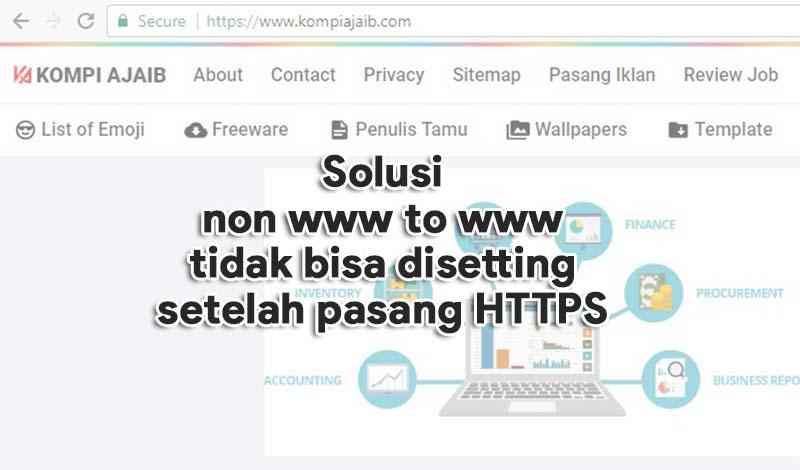 Solusi Tidak Bisa Setting Redirect non www to www Setelah Pasang HTTPS Blogger